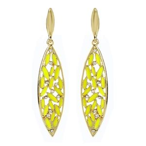 Yellow & Goldtone Crystal St. Clara Drop Earrings